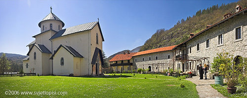 Manastir Morača panorama by Vladimir Popović